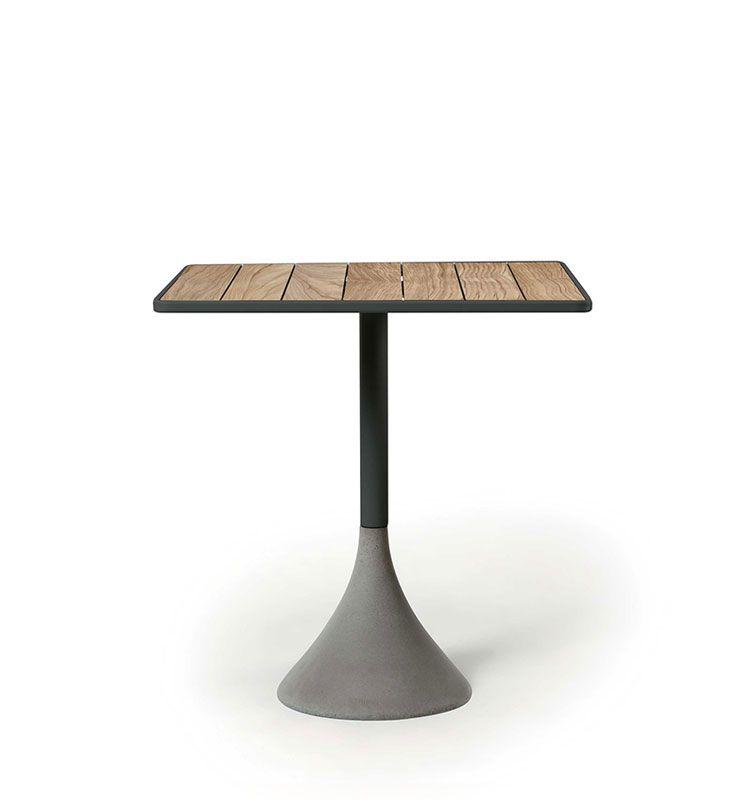 Concreto - Tavolo quadrato 60x60 h 74 - Tavolo da giardino Ethimo