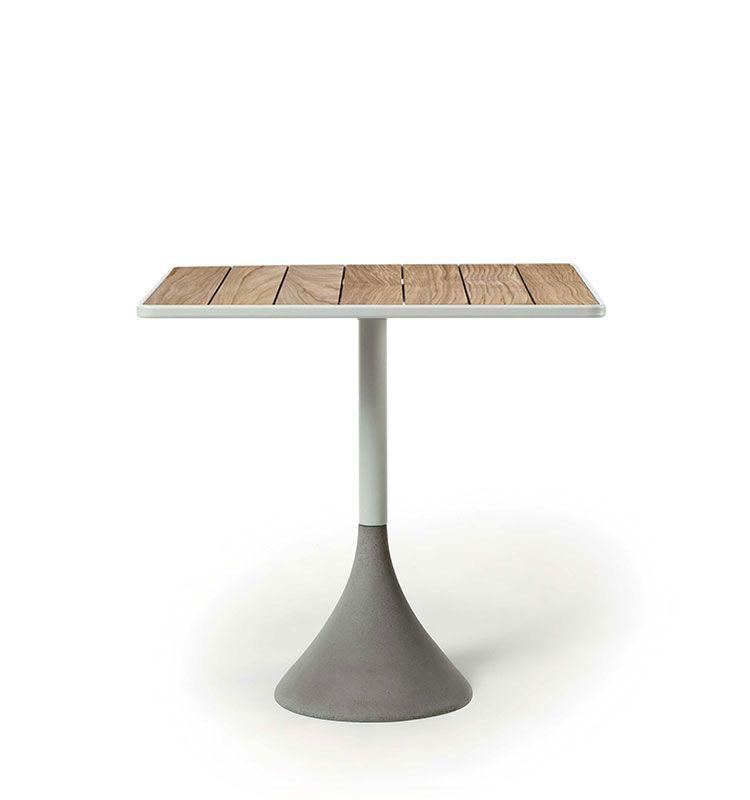 Tavolo quadrato 70x70 h.74 - Tavolo alto da giardino Ethimo